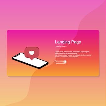 Landing page flat design