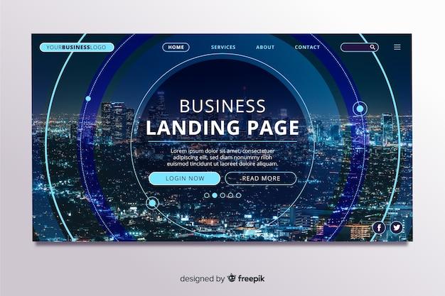 写真付きビジネス用ランディングページ