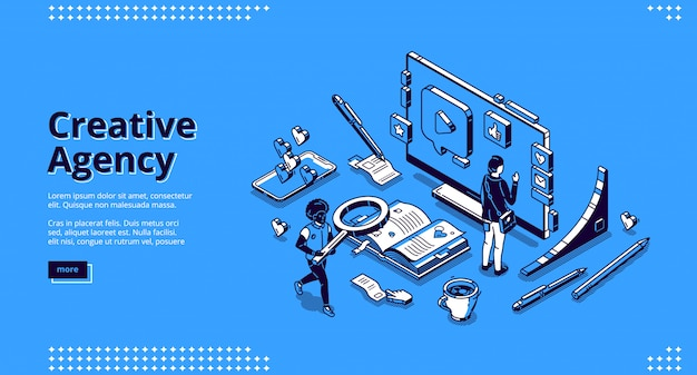 Целевая страница для креативного агентства