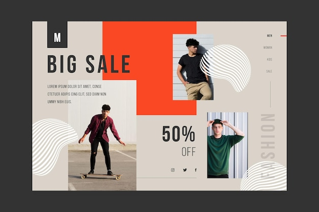 Целевая страница для продажи моды