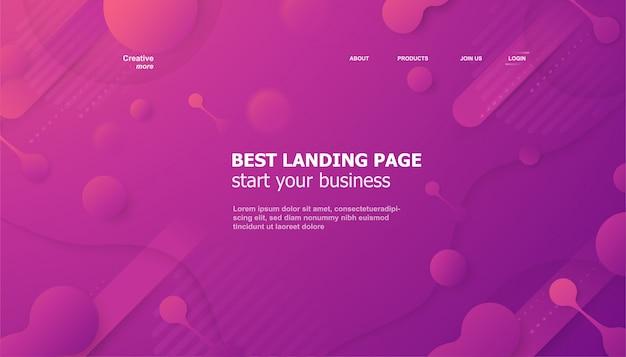 Целевая страница для сайта в флюидном стиле.