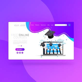 Landing page free online courses