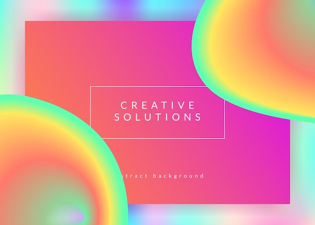 Landing page. holographic 3d backdrop with modern trendy blend. vivid gradient mesh. neon ui, mobile template. landing page with liquid dynamic elements and fluid shapes.