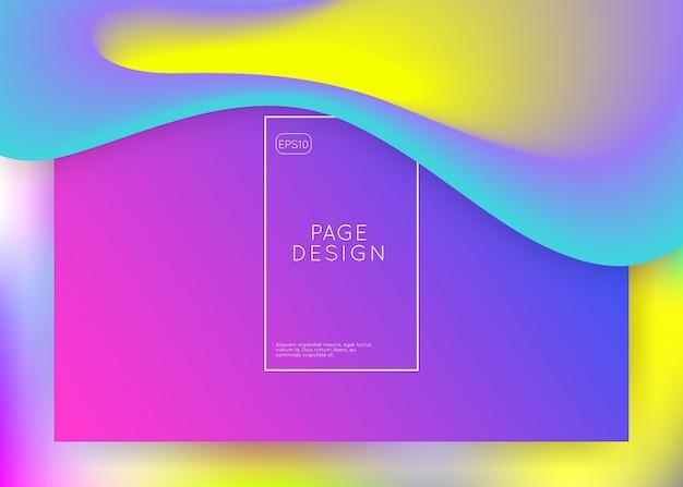 Целевая страница. голографический 3d фон с современной модной смесью