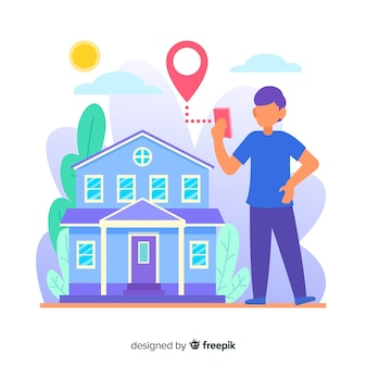 Landing page house searching concept