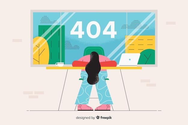 Landing page illustration error 404 concept