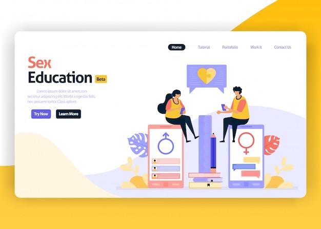 Landing page illustration of sex education