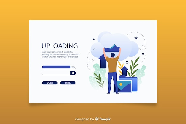 Landing page image upload concept