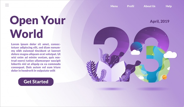 Landing page for international book day