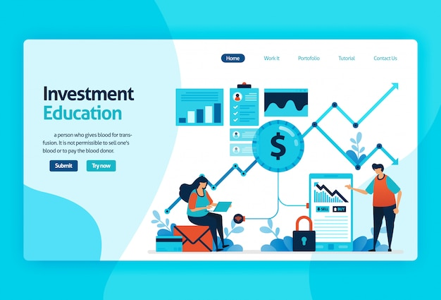 Landing page for investment education