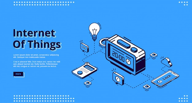 Landing page of iot technology of smart home