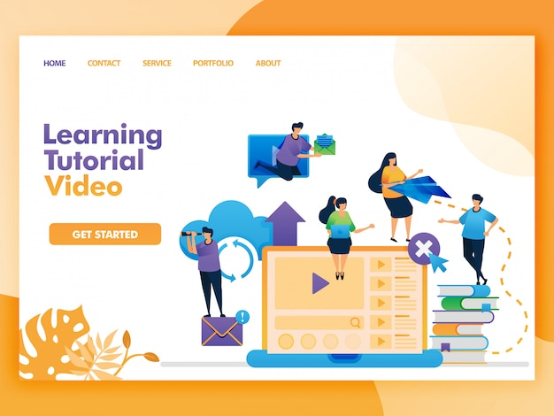 Landing page of learning tutorial video for education and learning.