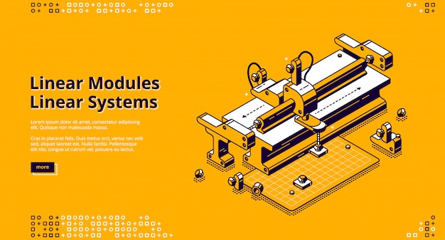 Landing page of linear modules