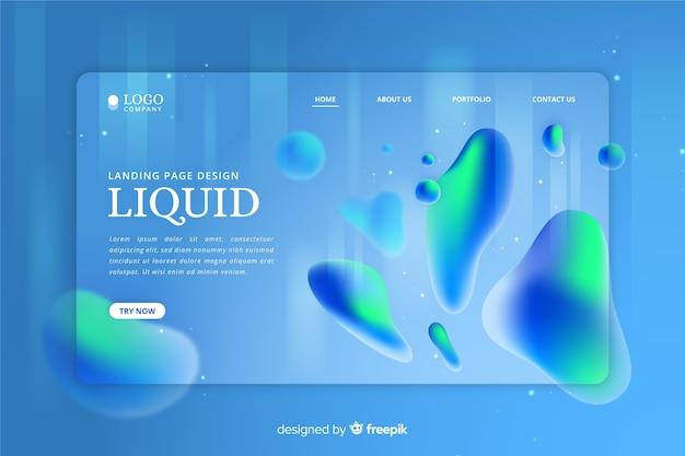 Landing page liquid effect
