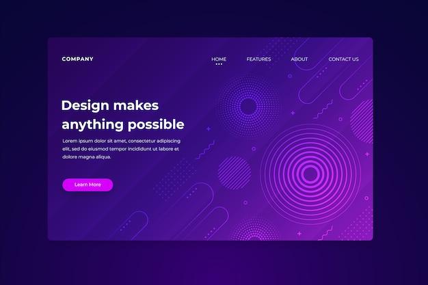 Landing page minimal geometric template