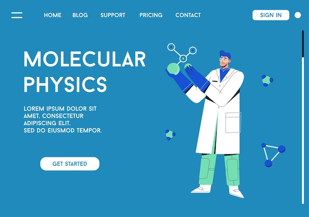 Landing page of molecular physics concept