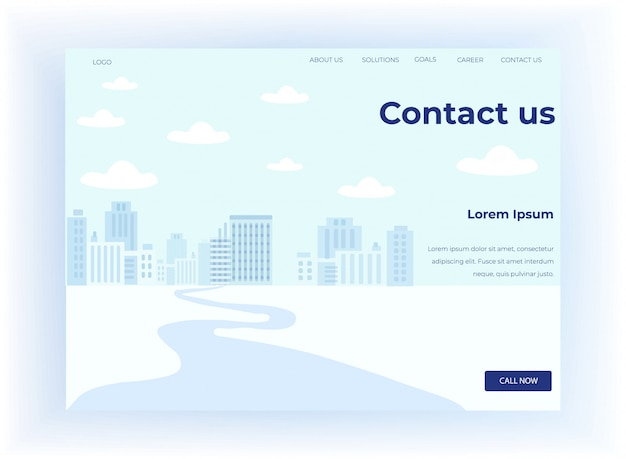 Landing page motivate to contact with call center