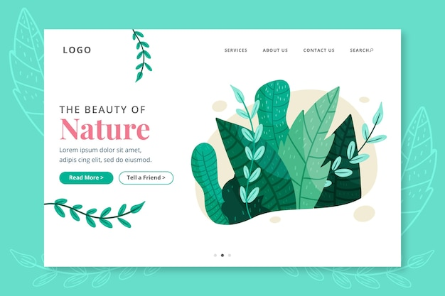 Landing page nature hand-drawn
