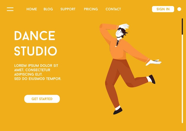 Dance studio 컨셉의 랜딩 페이지