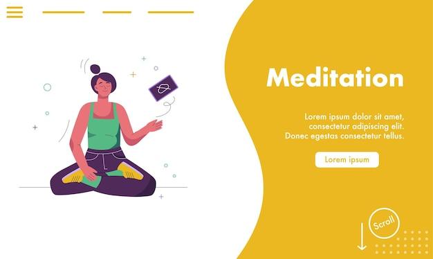 Целевая страница концепции медитации