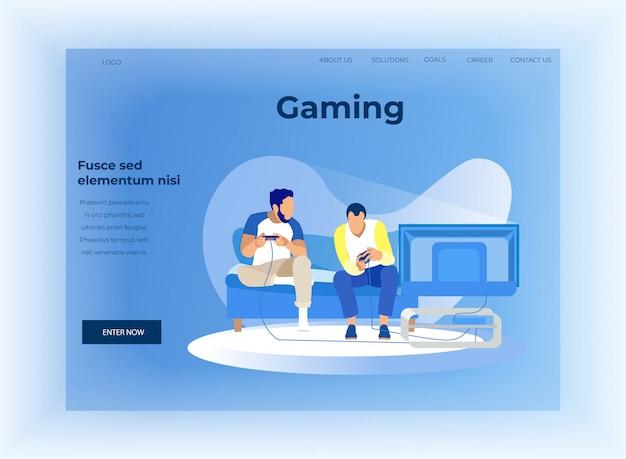 Landing page offer data analysis in gaming