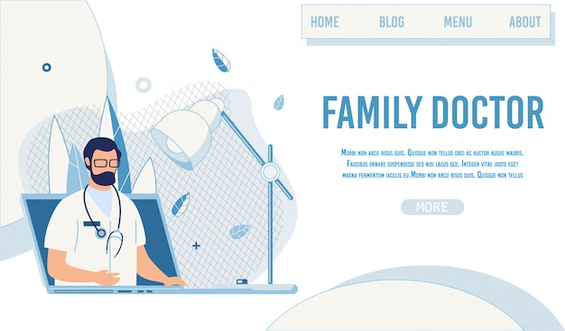 Landing page offer family doctor online service