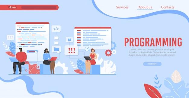 Landing page offer program for internet business