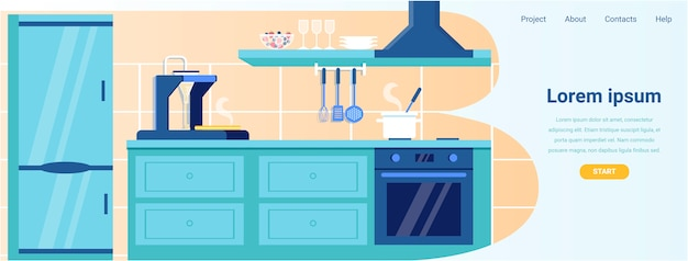 Landing page offer smart equipment for kitchen