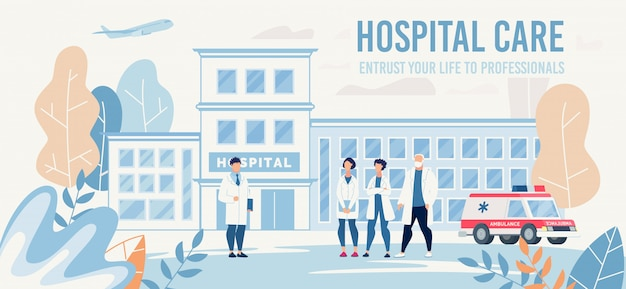 Landing page offering professional medical help