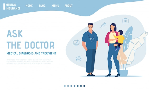 Landing page offers online doctor consultation