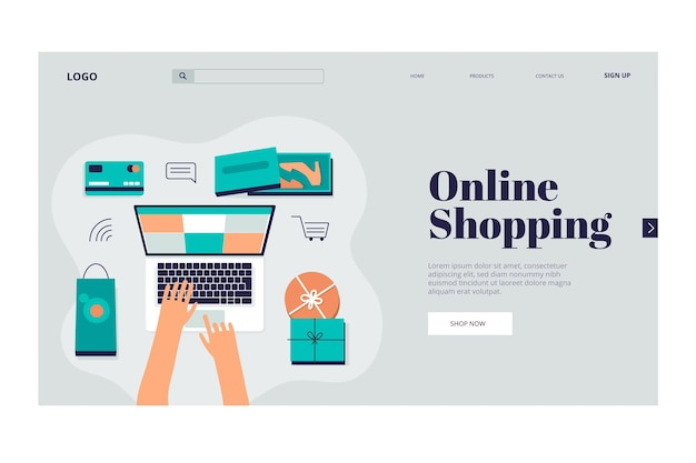 ランディングページのオンラインショッピング