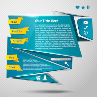 Landing page. origami website template