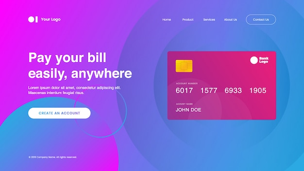 Landing page payment