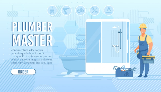 Landing page for plumber master repair service