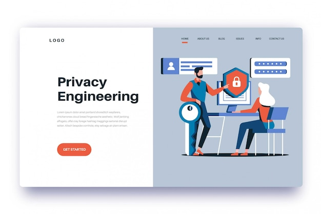 Landing page privacy engineering