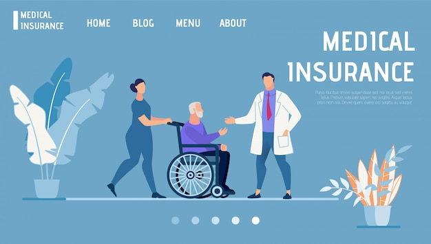 Landing page promotes health and medical insurance
