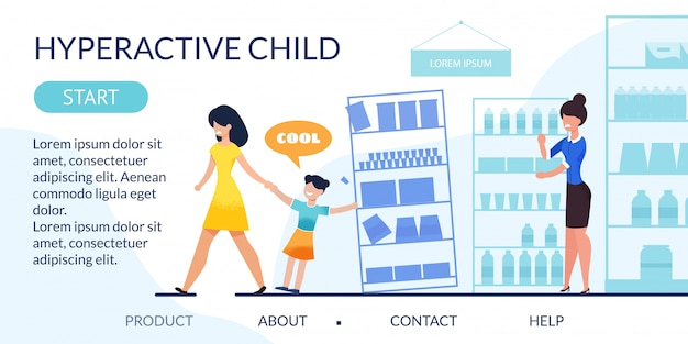 Landing page reveal hyperactive child problem