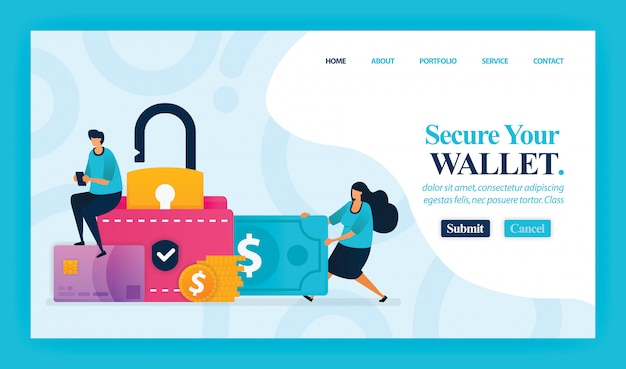Landing page of secure your wallet.
