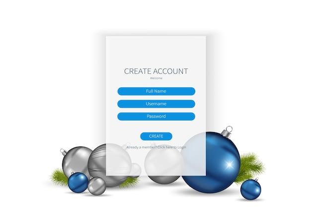 ランディングページのサインアップまたはログインフォームテンプレート