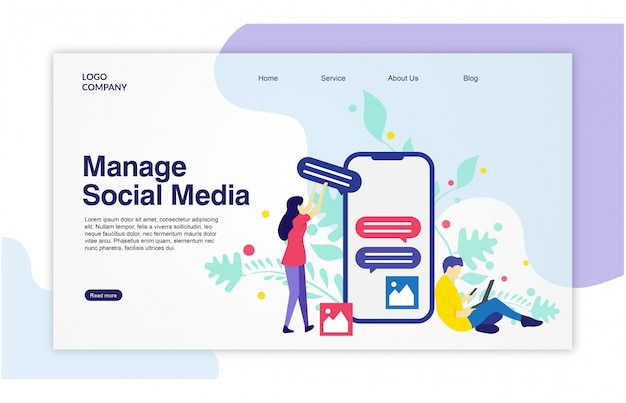 Landing page social media template design