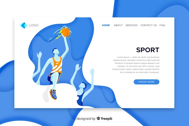 Landing page sport template