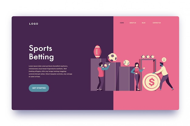 Landing page sports betting