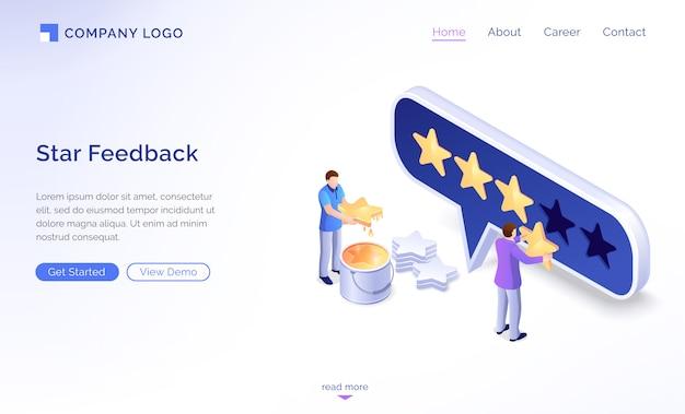 Pagina di destinazione del modello di feedback delle stelle