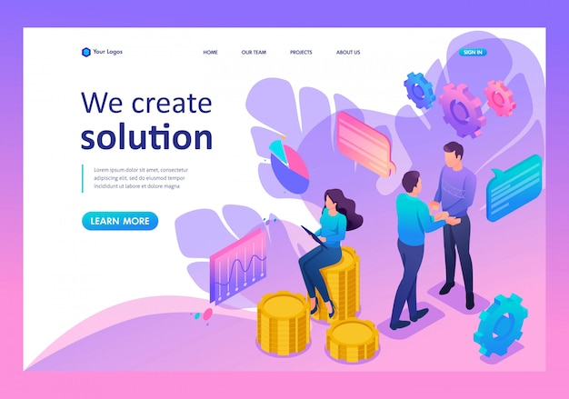 Landing page of teamwork to create a solution