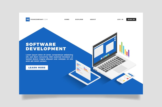 Landing page technology concept