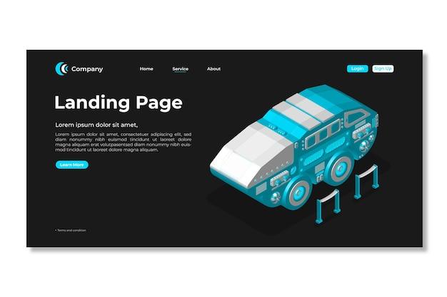 ランディングページテンプレート。 3dwebページのデザイン。