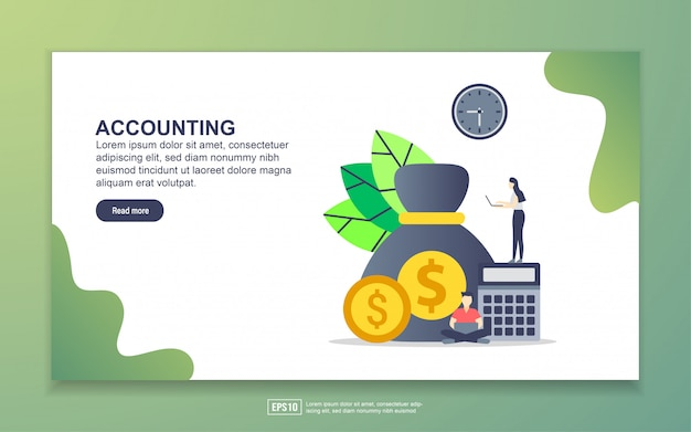 Landing page template of accounting