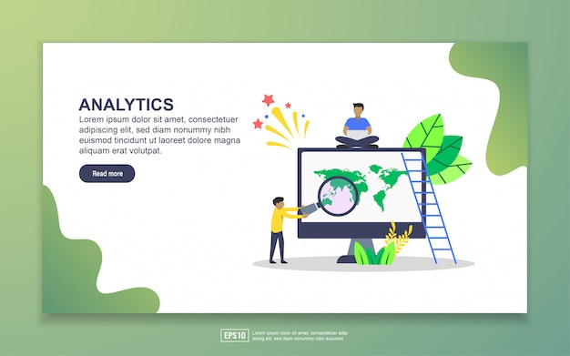 Landing page template of analytics