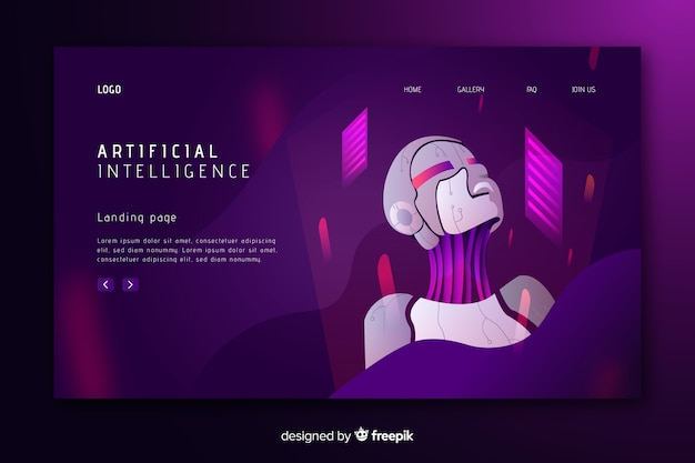 Landing page template artificial intelligence