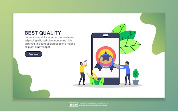 Landing page template of best quality. modern flat design concept of web page design for website and mobile website